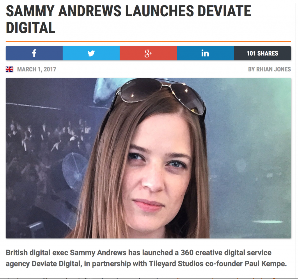 My new venture : Deviate Digital