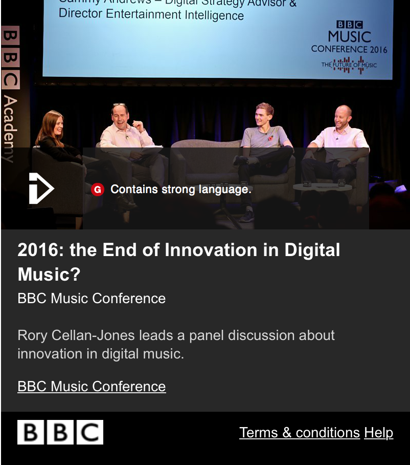 Speaking At BBC Future Music Conference